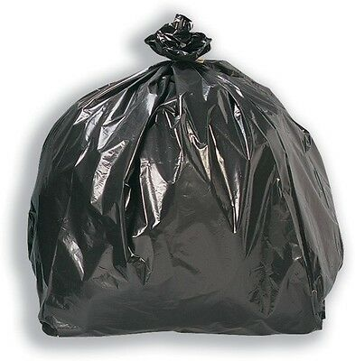 Heavy Duty Black Bin Rubbish Waste Refuse Liners Bags Sacks Extra Large 80L x 10