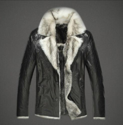Mens Fox Fur Coat