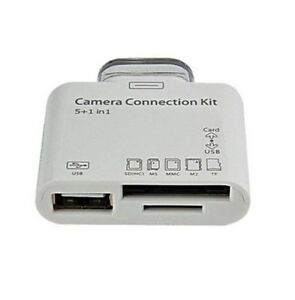 5 IN 1 CAMERA CONNECTION KIT CABLE ADAPTER CARD READER FOR IPAD 1 2 3 SD TF USB