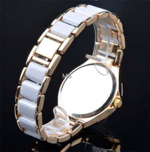 Luxury Fashion Women's Ladies Crystal Bracelet Leather Analog Quartz Wrist Watch