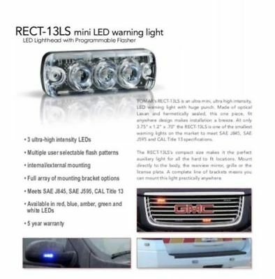 Tomar Rect-13 Mini Led Warning Light Rect13ls-r
