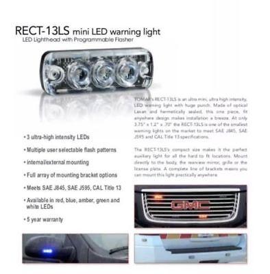 Tomar Rect-13 Mini Led Warning Light Rect13ls-r