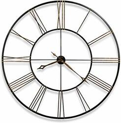 Postema Gallery Wall Clock 625-406 – Oversized Round Wrought-Iron with Quartz M