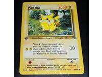 Rare Pikachu Pokemon Card mint 1st edition ultra rare