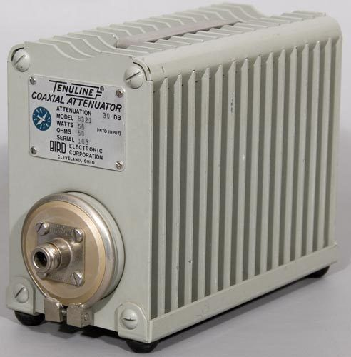 Bird 8321 50W 30 dB Tenuline RF Coaxial Attenuator w/Type-N (Female 4240-062)