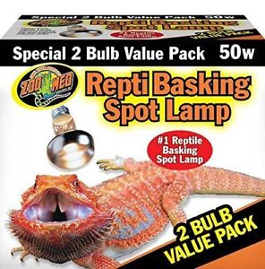 ZooMed Repti Basking Spot Lamp 50 Watt 2 Bulb Value Pack