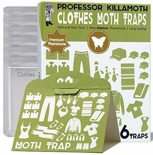 Clothes Moth Traps 6 Pack | Child and Pet Safe | No insecticides | Premium