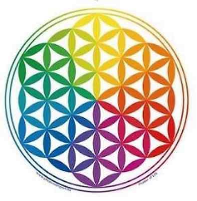 FENG SHUI Fensterbild Blume des Lebens Regenbogen Energie