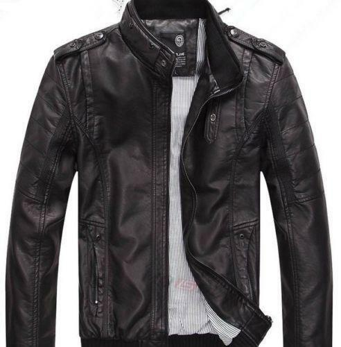 Mens Black Leather Blazer | eBay