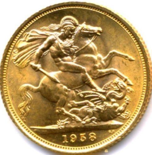 1958 Gold Sovereign Ebay