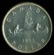 1953 Canadian Silver Dollar