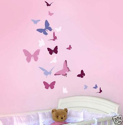 Butterfly Dance Wall Stencil - Wall Stencils for Easy and Fun DIY Nursery Decor
