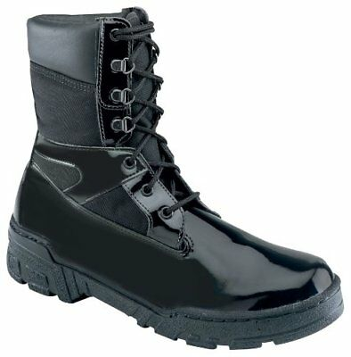 Thorogood Men 8 Commando Plus Gloss Black Leather Law Enforcement (Law Enforcement Leather Boot)