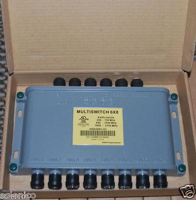ZINWELL MS6X8WB-Z WideBand 6x8 MultiSwitch Ka/Ku OLD WB68 DIRECTV UP TO 8 RECEIV