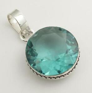 Aquamarine pendant ebay sterling silver aquamarine pendant aloadofball Image collections