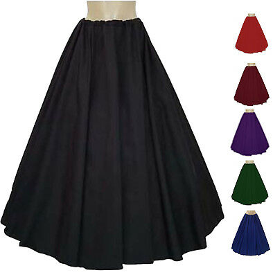 RENAISSANCE Full Length Skirt Medieval Civil War Pirate Wench