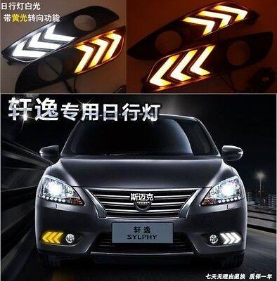 2x LED Daytime Running Fog Lights Lamp DRL For Nissan Sentra 2013 2014 2015 2016