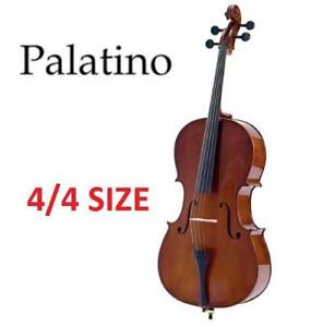 NEW PALATINO ALLEGRO CELLO OUTFIT VC-450 209686907 4/4 SIZE W/CARRYING BAG