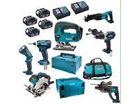 Makita 18v drill impact driver batterys charger hammer drill ,circular saw brand new !!!