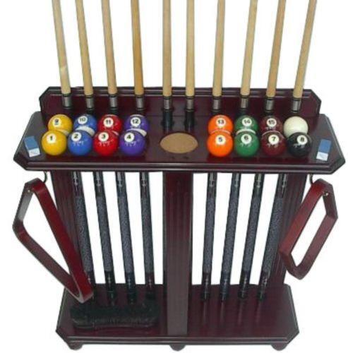 Rack Em Billiard Ball Pool Table Light: Pool Cue Rack