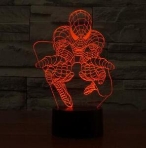 Spiderman 3D color changing night lamp 100% NEW