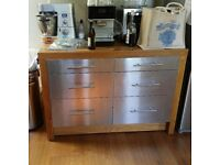 IKEA OAK KITCHEN ISLAND 6 DRAWERS USED