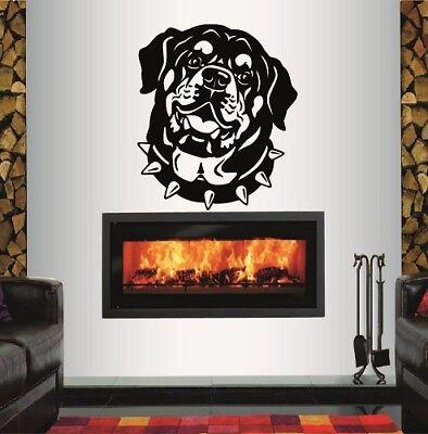 Vinyl Decal Dog Head Rottweiler Puppy Bedroom Nursery Pet Shop Wall Sticker 307