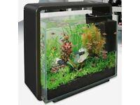 SuperFish Home 80 Aquarium Glass Fish Tank Black 80L with Filter & LED Light