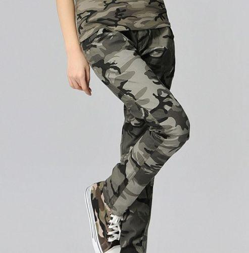 Womens Camo Cargo Pants | eBay