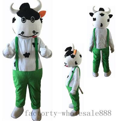 Halloween Party Advertisement (Milk Advertisement Cow Mascot Costume Cosplay Halloween Party Dress Adults)