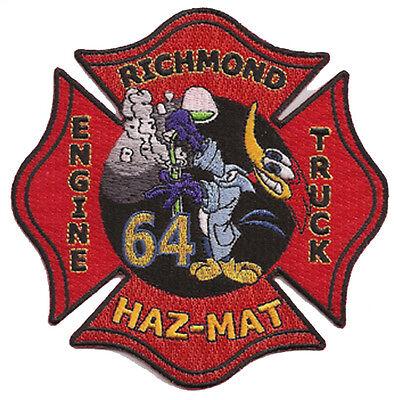RICHMOND, CALIFORNIA FIRE DEPT. ENGINE 64 HAZMAT  FIRE PATCH