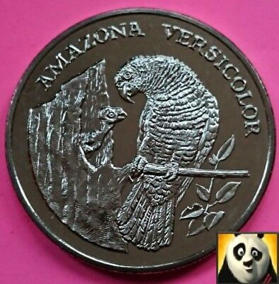 1986 Rare Saint Lucia Amazon Parrot Preserve Planet WWF For Nature Coin Medal