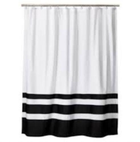 PATTERN STYLE] - black and white striped shower curtain for bathroom Striped Black & White Gossamer Roll FT X 3 FT Wedding Aisle Decoration Table Cover NEW. by Fun Express. $ $ 34 20 $ Prime. FREE Shipping on eligible orders. Only 5 left in stock - .