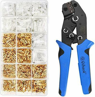 Wire Terminal Crimping Tool Kit Qibaok Ratcheting Wire Crimper Awg 22-160.5-1.