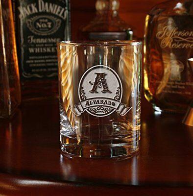Custom Whiskey, Scotch, Bourbon, Double Old Fashioned Glasses SET OF 2 (M8)