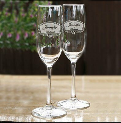 Bridal Party Ideas (Engraved Bridal Party Champagne Toasting Glass Gift Ideas, One Champagne)