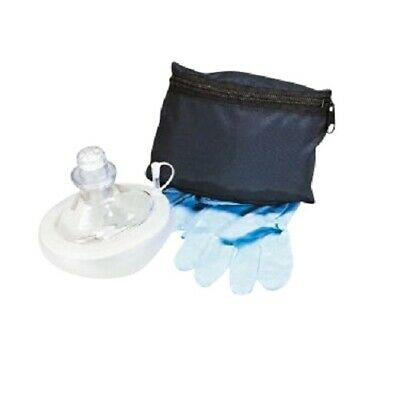 Cpr Resuscitator Rescue Mask Medical Cpr Face-mask W Oxygen Inlet And Gloves