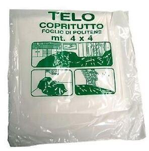 Telo copritutto mt 4x4 16 mq x protezione mobili letti for Telo arredo copritutto