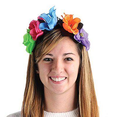 Dia De Los Muertos DAY OF THE DEAD Flower HEADBAND Costume Accessory HALLOWEEN