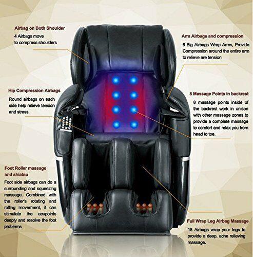 New Electric Full Body Shiatsu Massage Chair Recliner Zero Gravity w/Heat 77 Electric Massage Chairs