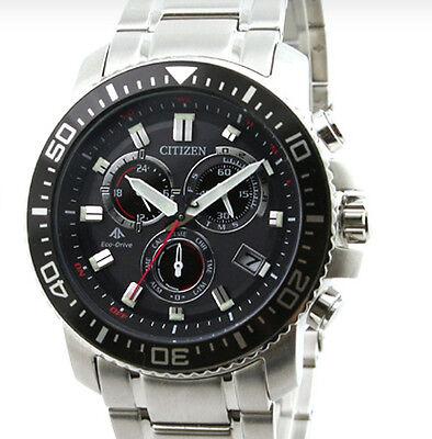 CITIZEN watch PROMASTER Eco-Drive radio clock chronograph PMP56-3051 Men Black Chronograph Clock