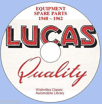 Lucas Parts Information dvd-rom 1948 ~ 1962