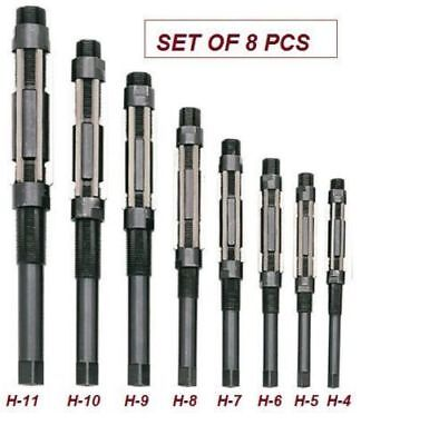 Adjustable Hand Reamer Set Of 8 Pcs H4 To H11 Size 1532 To 1.116