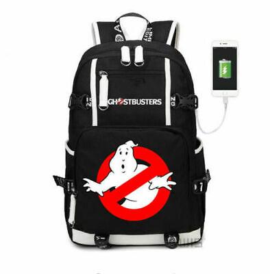 Ghostbusters Backpack Kids Schoolbag Men Travel Laptop Bag With USB charging - Ghost Busters Backpack