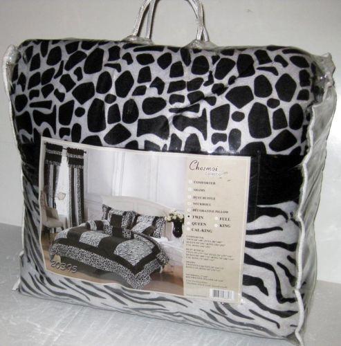 Zebra Print Comforter Twin   eBay