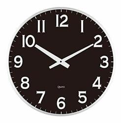 Lulu Decor, 18 Slim Large Black Wall Clock, Modern Sleek Design 0.75  Thick