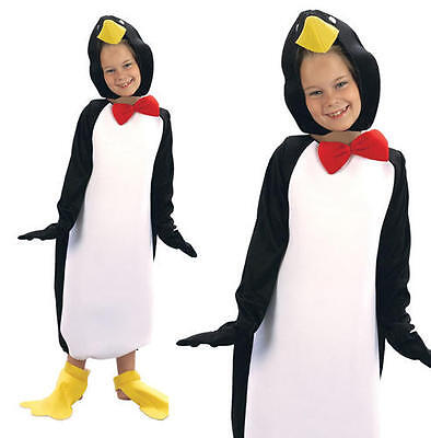 Childrens Kids Penguin Fancy Dress Costume Pingu Christmas Outfit 2-3 Yrs