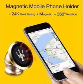 PECKHAM TRADING UK Magnetic Phone Holder 24K Gold Plated - Car Accessories for many brands