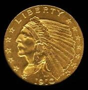 1910 Gold Quarter Eagle