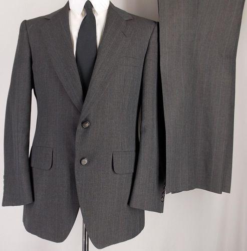 brown suit blue pinstripe ebay